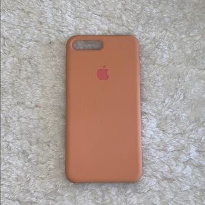 NWOT iPhone 7 Plus Light Pink Silicone Case